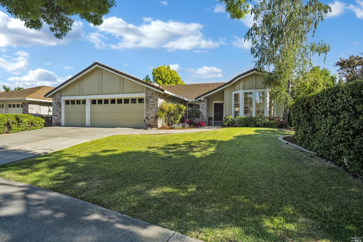 Hard to find single level home in Browns Valley with sparkling pool & 3-car garage! This original ow