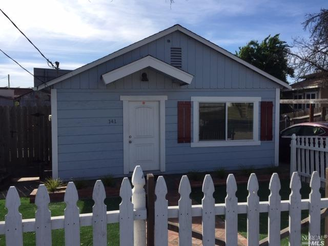 Single family 2 bedroom 1 bathroom house situated on Silverado Trail with plenty of parking and larg