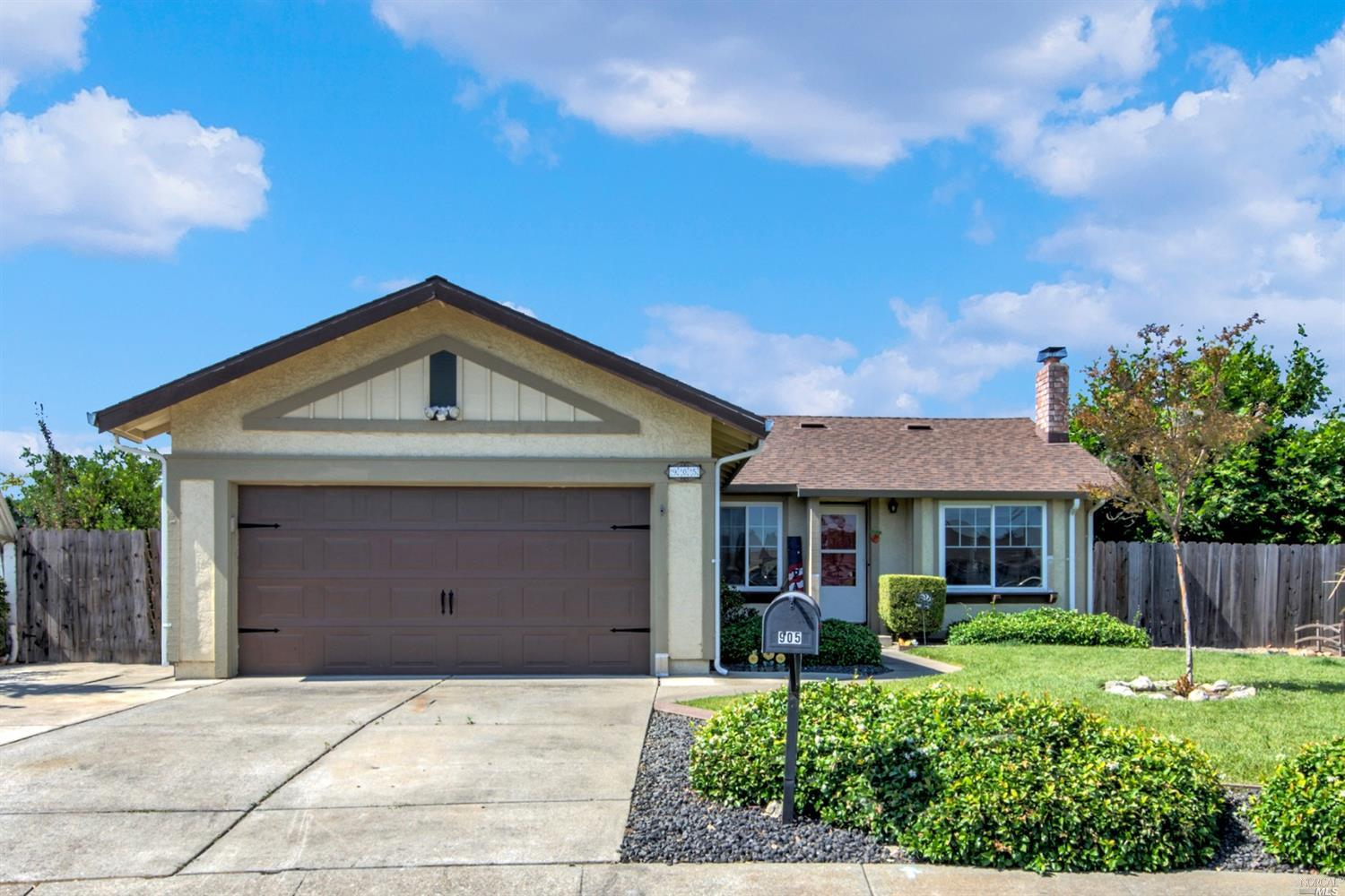 Highly desired Suisun single-story home with RV parking and a large backyard located in a court near parks, schools, Hwy 12 and Travis Air Force Base. Updated kitchen offers granite countertops, peninsula bar seating, stainless-steel appliances and recessed lighting. Residence features laminate flooring, updated bathrooms, dual pane windows and sliding glass doors, a wood burning brick fireplace in the family room, crown molding in the dining/kitchen area and high ceilings. Home showcases an ideal open floor plan and includes an interior laundry room with shelving. Master bedroom boasts crown molding, a walk-in closet and exterior access to the backyard patio. Large master bathroom presents 2 sink granite vanities and a glass shower. Spacio