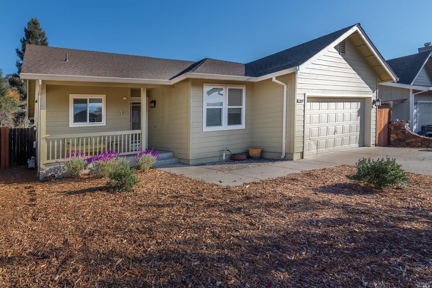 Located in a great Calistoga neighborhood close to downtown. This single-story residence is located on a quiet street near the end of a cul-de-sac with views of the neighboring mountains. The open kitchen has Stainless Steel appliances and a Chef's stove. Vaulted ceiling in the living/dining room creates a spacious feel with lots of natural light. Nice sliding door opens to the deck overlooking the yard. Updated dual pane windows and a new roof in 2020.  Secret temperature-controlled wine room in the garage. Only a short distance to beautiful downtown Calistoga and all it has to offer, restaurants, wine bars, and of course shopping.