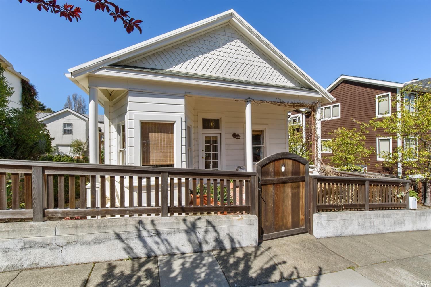 Fantastic two-unit Sausalito property in the BEST location! Front cottage is 2br/1ba, nicely updated with tall ceilings and loads of charm. Just behind is a separate residence with space below that is currently being used as a home office (rumor has it that the space used to be a boat house many years ago!), a storage room or additional office and a super-stylish 1br/1ba updated apartment above. Each unit has its own washer and dryer. A large back patio area is at the rear of the property, perfect for relaxing or entertaining.The gated driveway leads to ample off-street parking. This has been owner-occupied and thus, neither unit has been rented for the last 8 years. A great investor opportunity as the use here is so flexible. Location can't be beat - Caledonia Street is about half a block away with all its shops, cafes and restaurants. Or, it is a quick hop into San Francisco if desired!