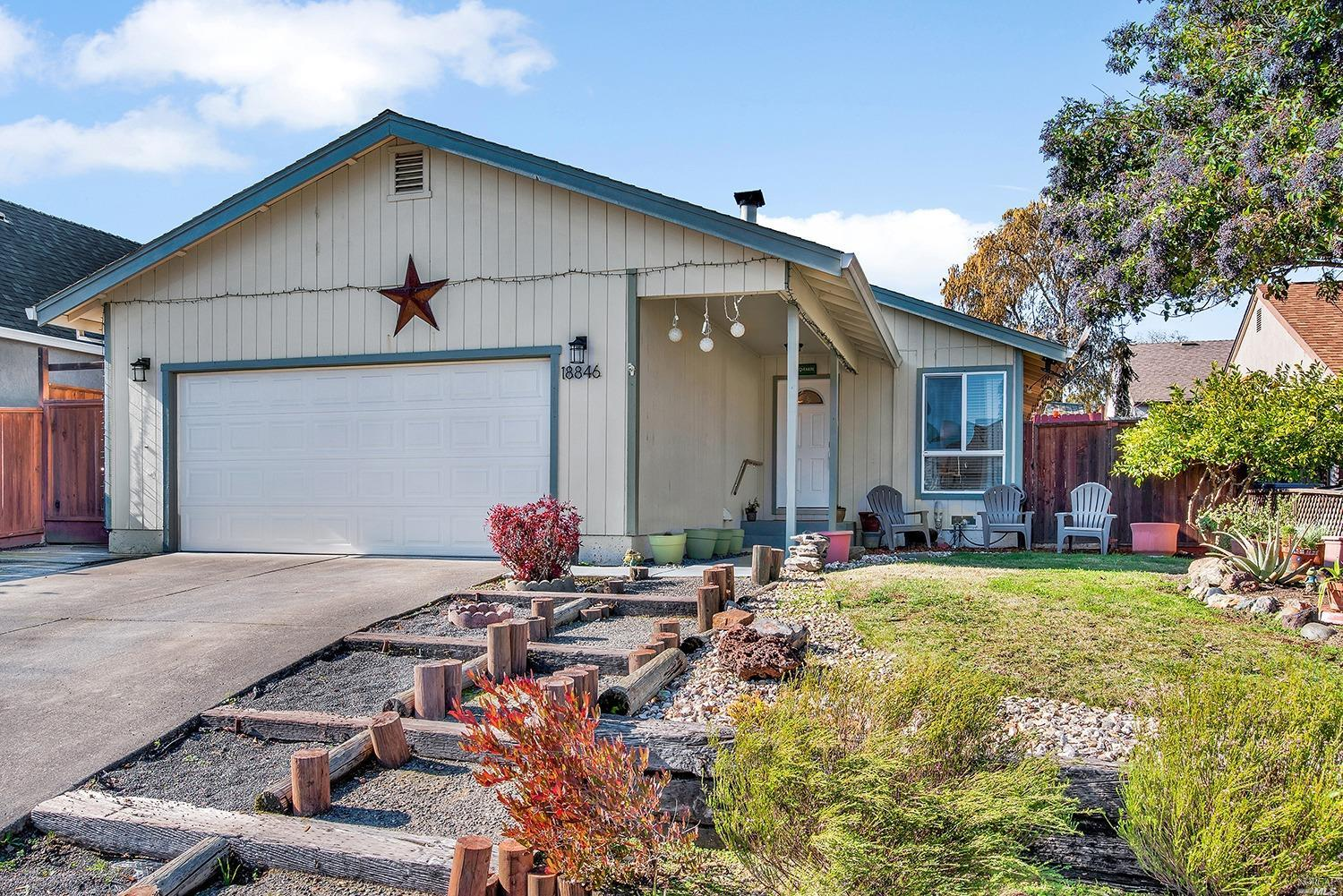 Very sweet 3 Bedroom/ 1 bath home in a wonderful  neighborhood.  Open updated eat-in kitchen. All new appliances, granite countertops, tile floors. Cozy fireplace in the living room and sliding doors to outside.  Large deck for family barbecue in the low maintenance back yard.
