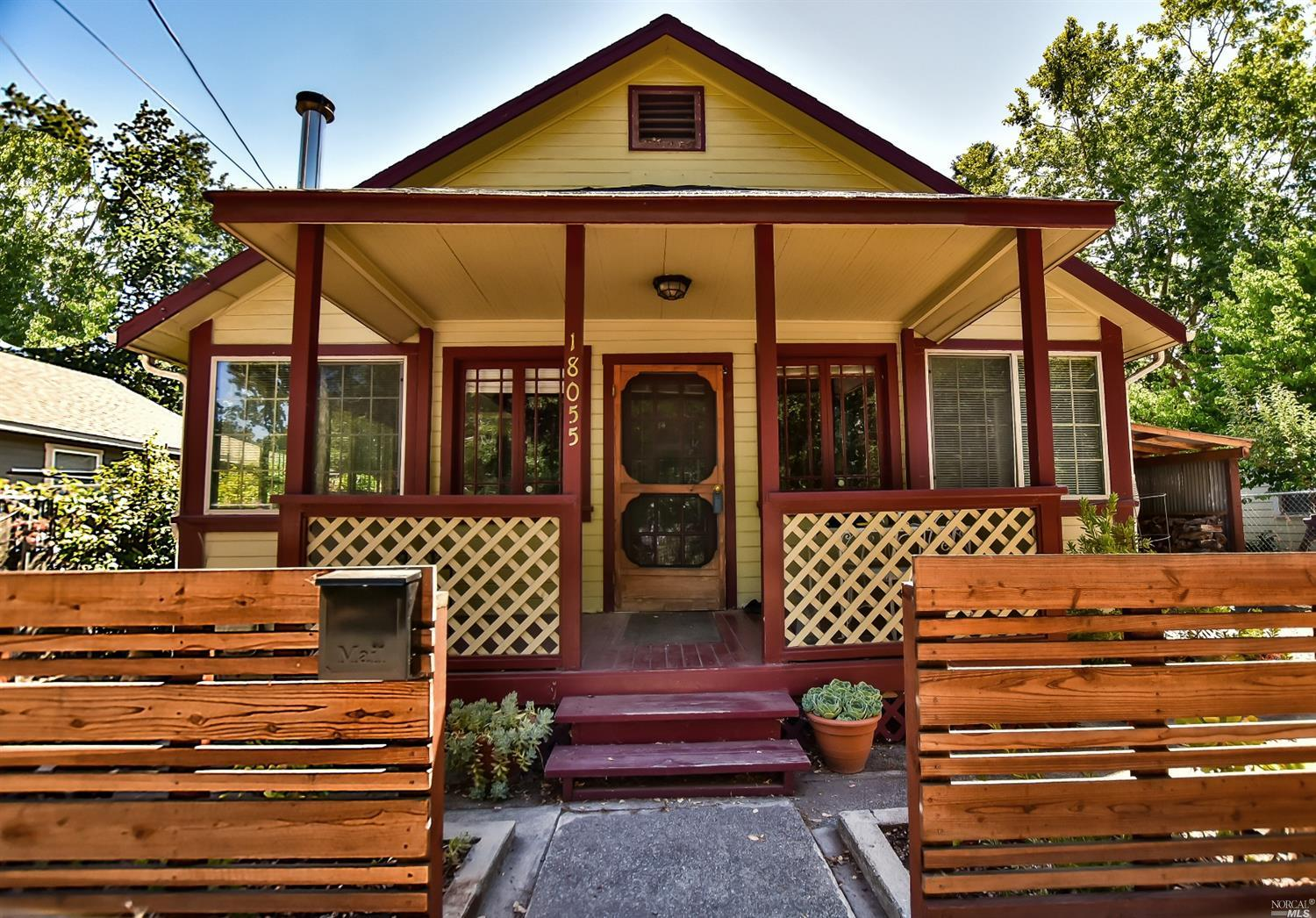 Cutest little cottage you'll find.  Two bedrooms plus office.  Friendly fir floors and vinyl.  Located with an unobstructed view of Sonoma Creek.  Sweet backyard with fruit trees.  Additional studio.  It's a rare one that will please.  Photos by Judy Rupiper.