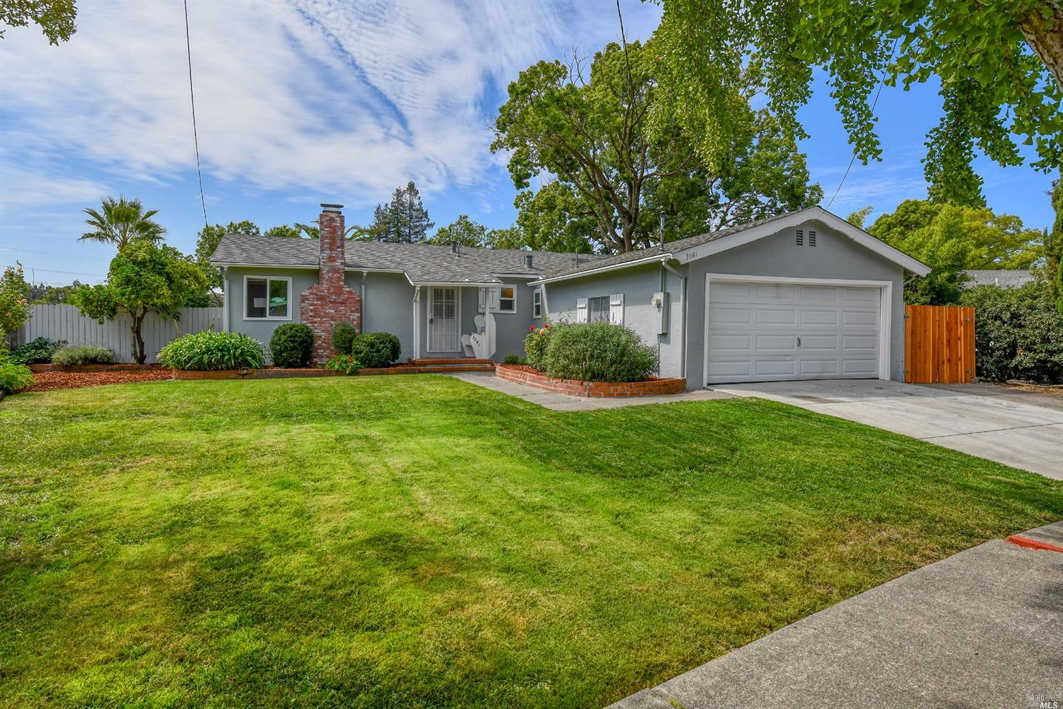 Welcome to this nicely updated 3 bedroom, 2 bath single-level 1128+-sq.ft. Napa home on a charming l