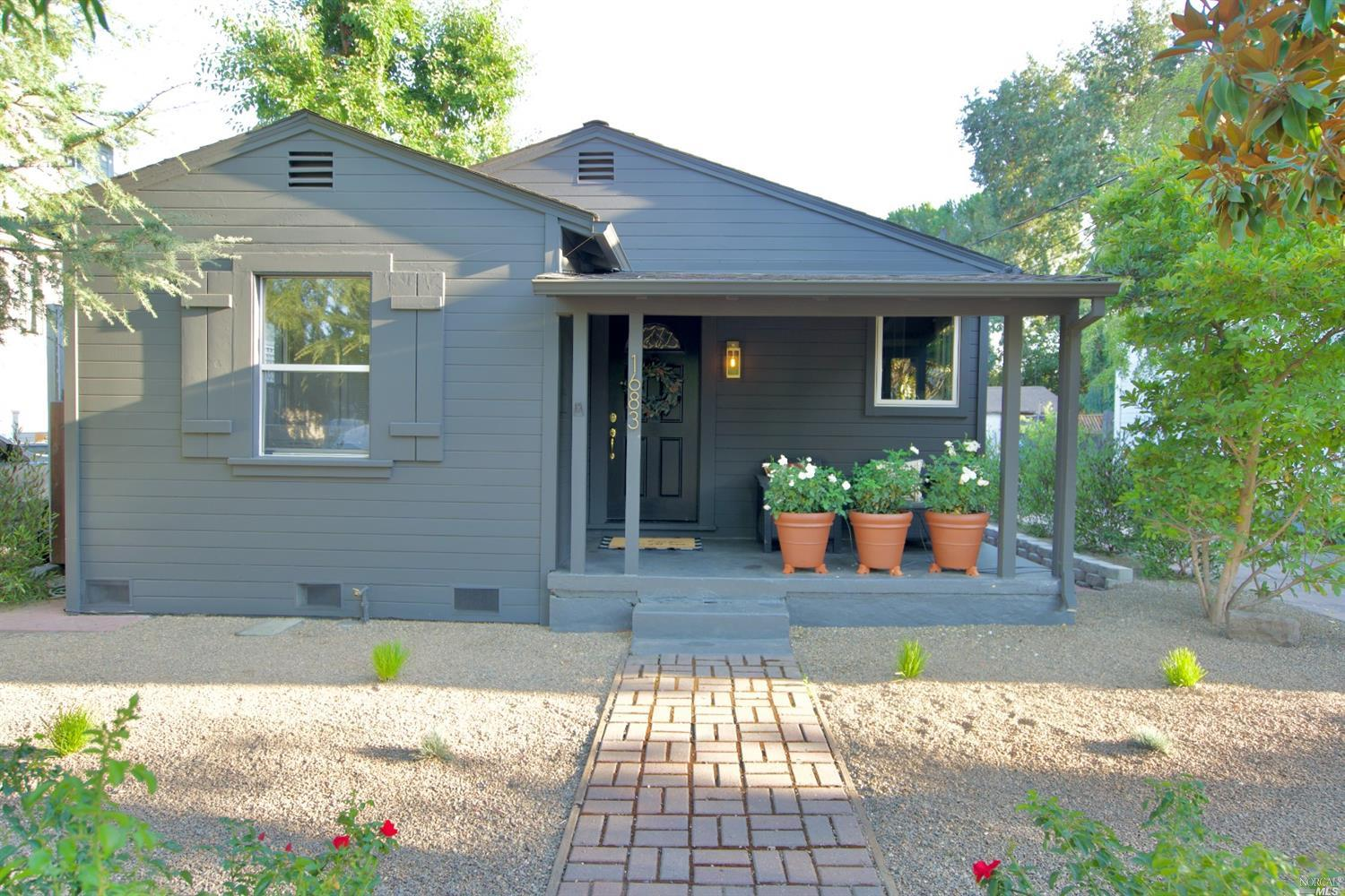 An absolutely charming bungalow nestled in the heart of the Napa Valley. This beautifully remodeled