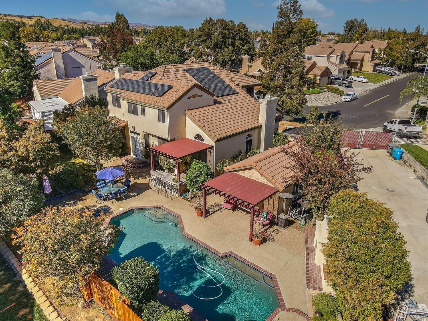 Stunning 5-bedroom, 3 full bath two story SOLAR home located in prestigious Browns Valley. Attention